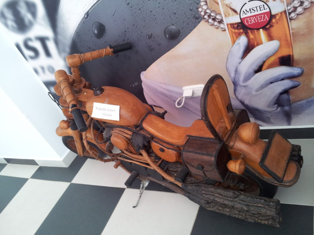 Wooden Harley Davidson at Big G's Diner