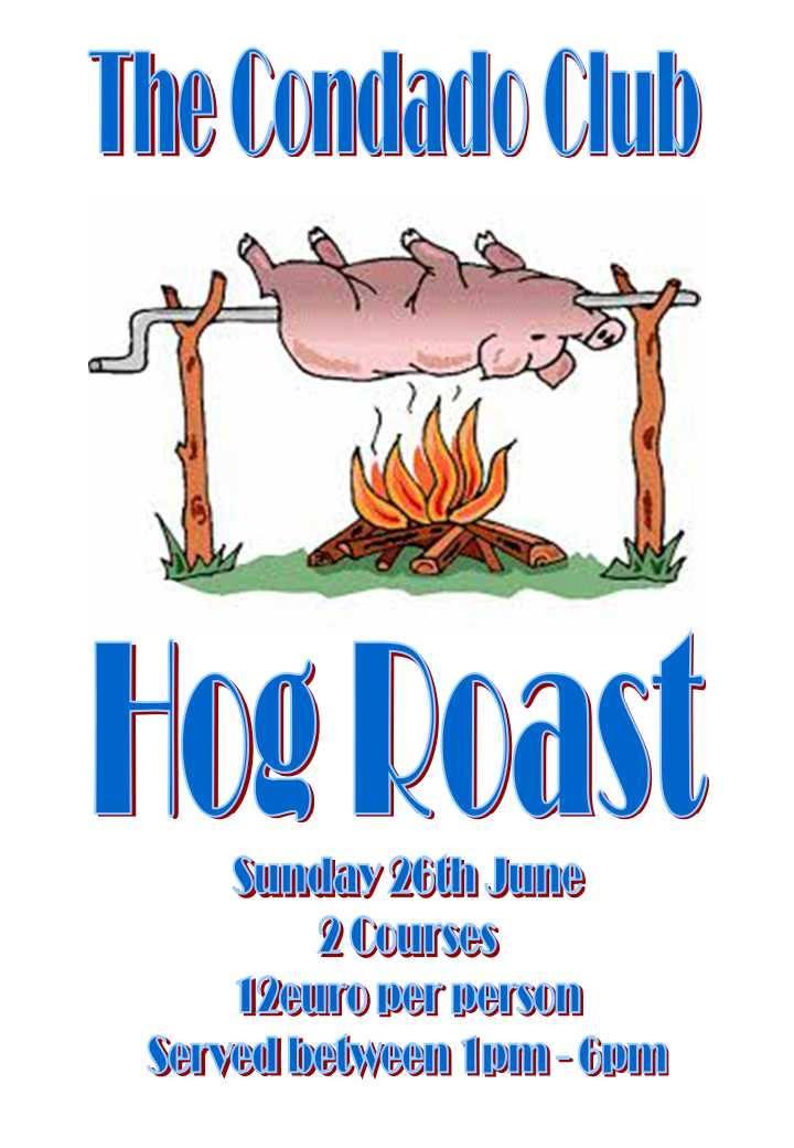 Hog Roast 26th june 2016 at The Condado Club