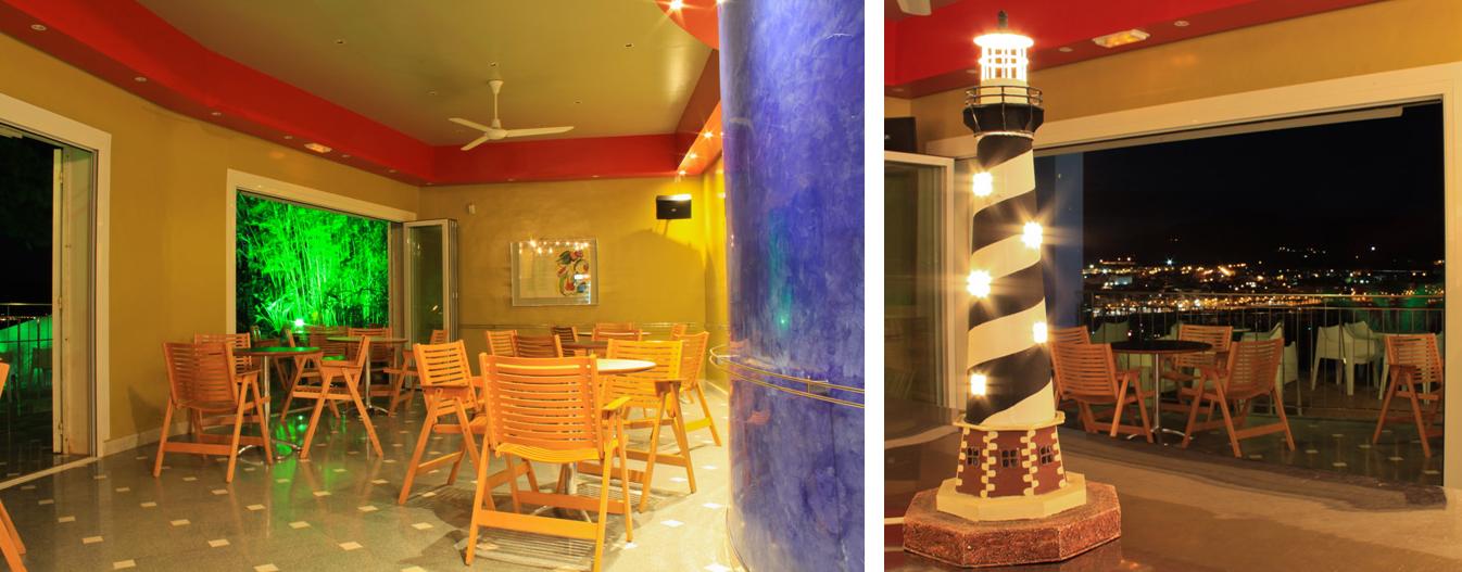 Inside Cafe El faro at Puerto de Mazarron