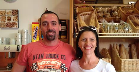 Miky and Javi, owners of El Rincón - Miky's Corner Patisserie