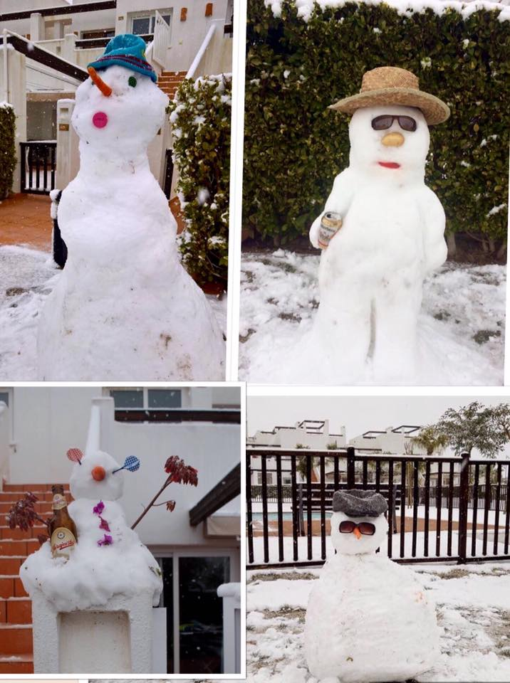 Snow Men at Condado