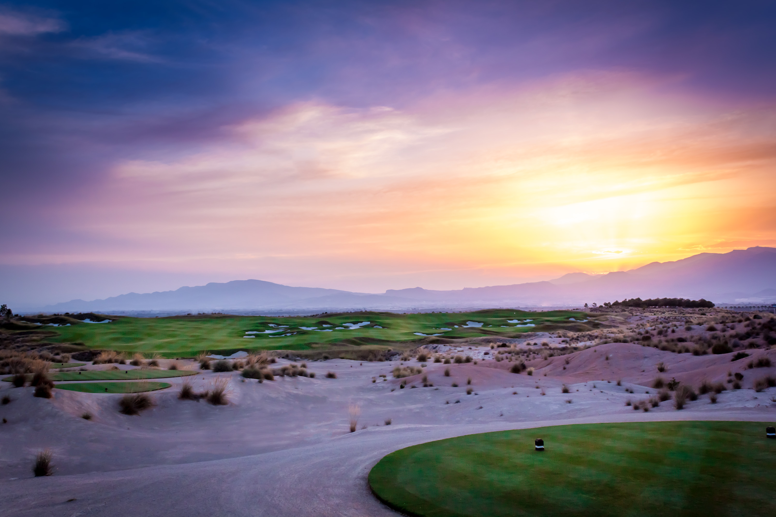 Stunning sunset over Alhama Signature golf course.