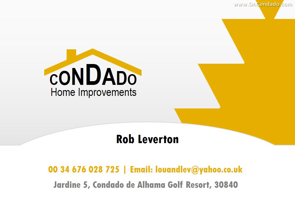 Condado Home Improvements - Rob Leverton