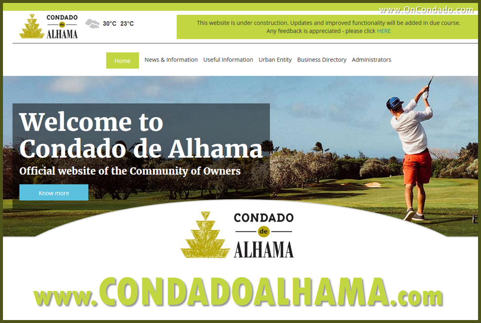 Official Community Website for Condado de Alhama