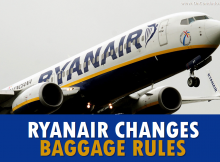 Ryanair Changes Baggage Rules January 2018