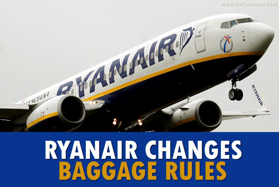 Ryanair Changes Baggage Rules January 2018