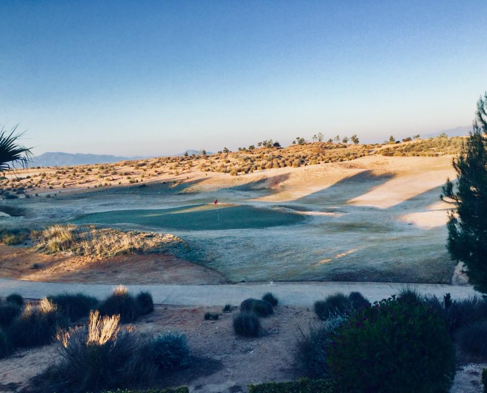 Alhama Signature course lightly dusted with snow. Photo by Mark Needham.