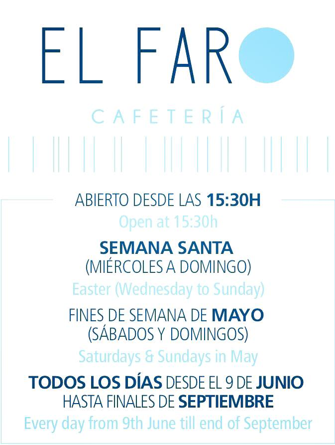 Cafe el faro opening times 2018 oncondado for Terraces opening times