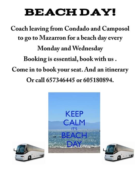 Taquilla Tickets Beach Day Coach Condado and Camposol