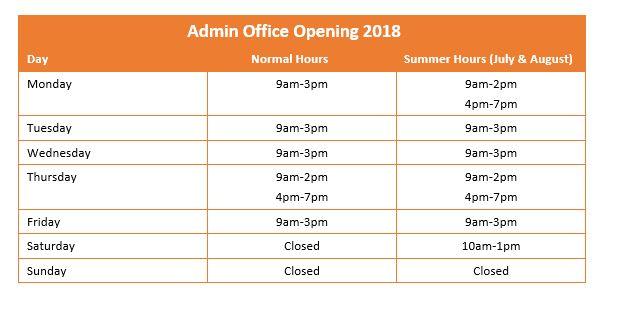 Admiburgos Opening Hours at Condado de Alhama