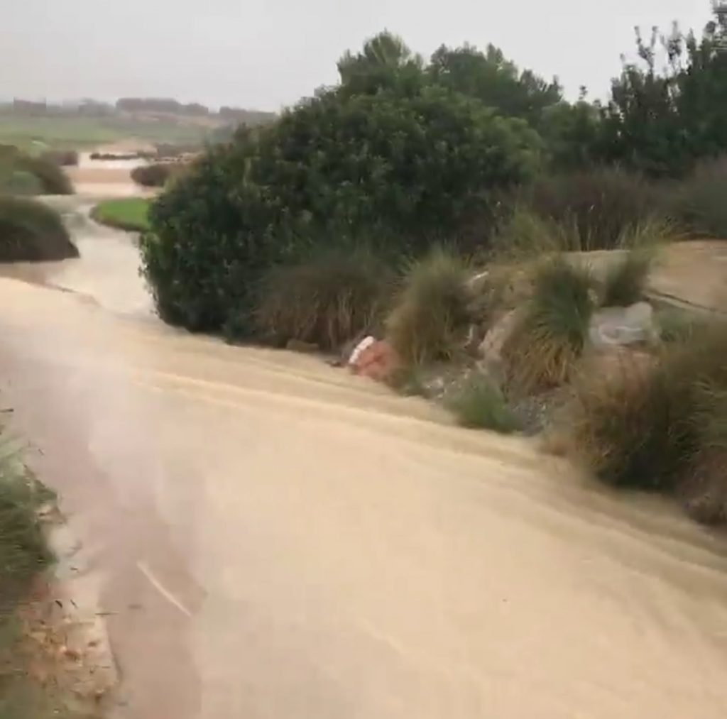 Flooding at Alhama Signature Golf Course