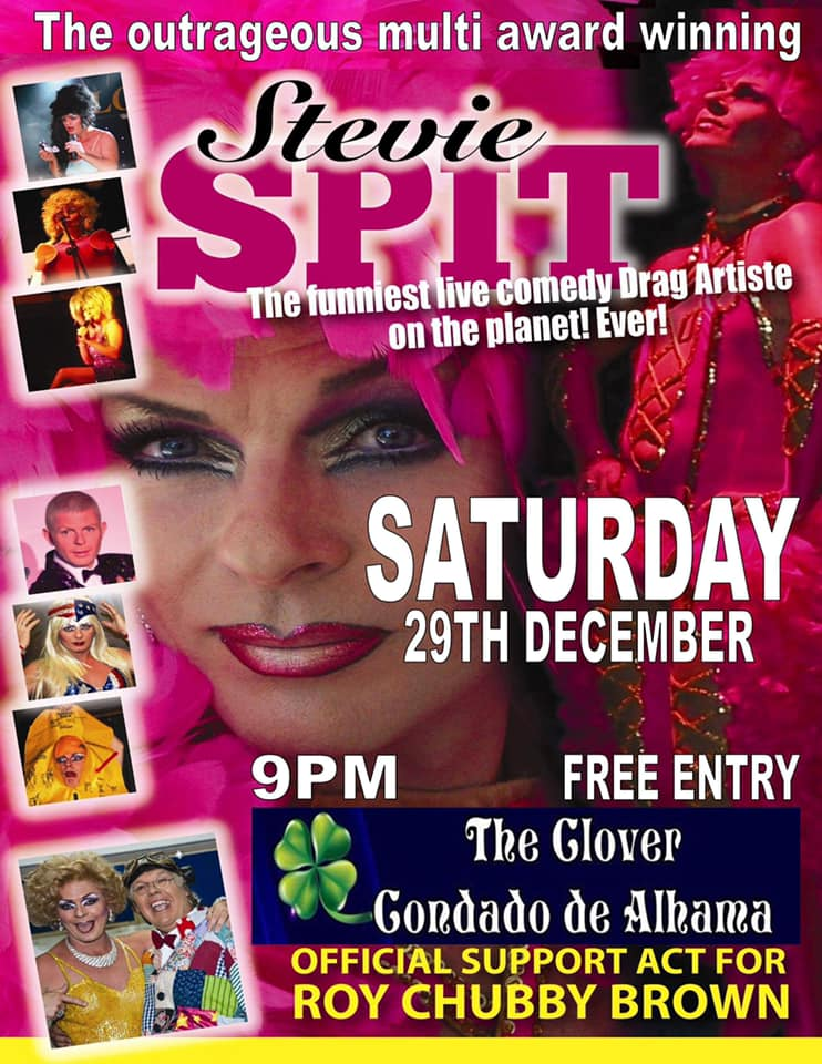 Comedy Drag Artiste Stevie Spit at Condado de Alhama