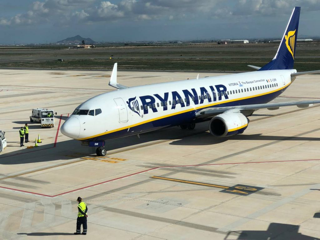 Ryanair makes history on maiden flight to Spain's Murcia International