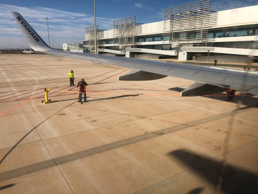 Opening of the new Region de Murcia airport is covered by 'The Independant' newspaper.