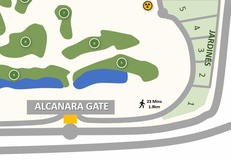Alcanara Gate Map - Condado de Alhama