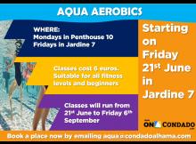 summer activities aqua aerobics condado de alhama