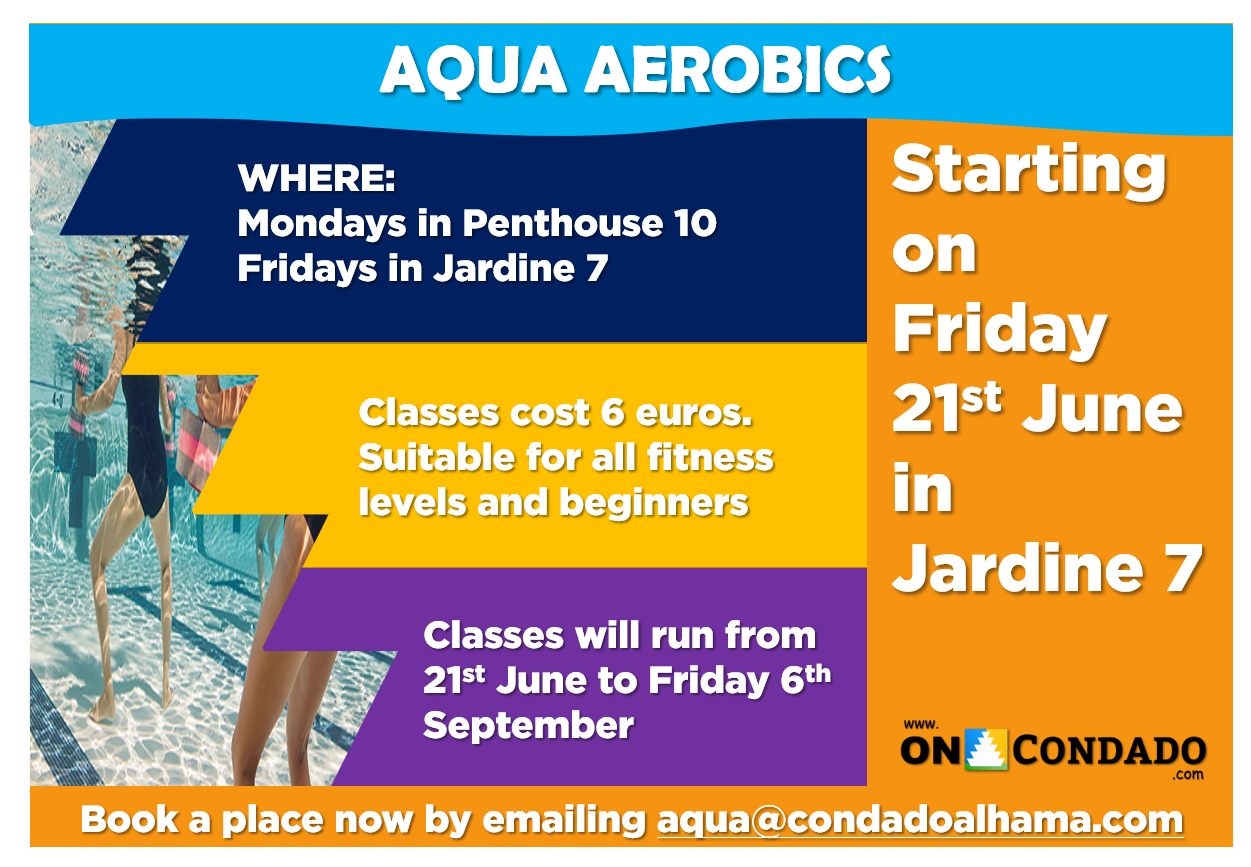 summer activities aqua aerobics condado de alhama