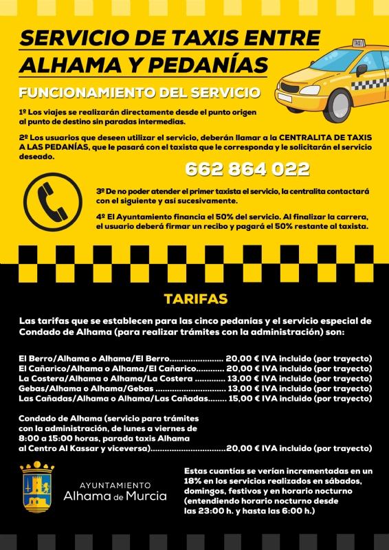 Alhama de Murcia Taxi Poster