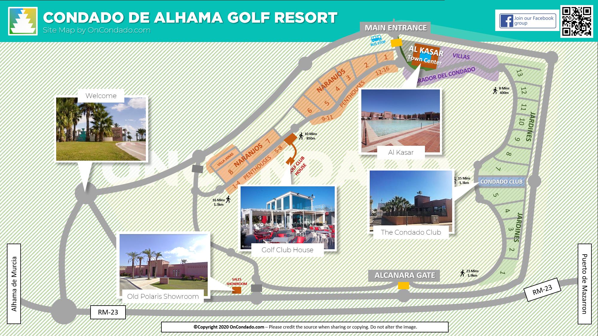 Resort Map for Condado de Alhama