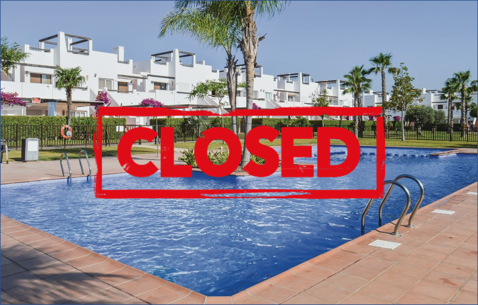 Pool and play areas are to be closed from 1st December